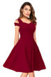 Picture of Cold Sleeve Sweetheart Neck Skater Dress