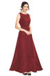 Picture of Printed Polka Dot Full Length Georgette Gown