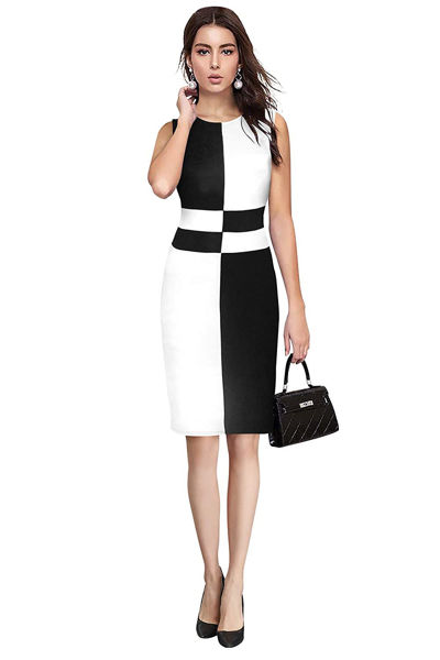 Picture of Striped Knee Length Bodycon Dress