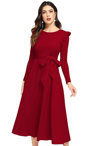 Picture of Full sleeve A-line Maxi Dress