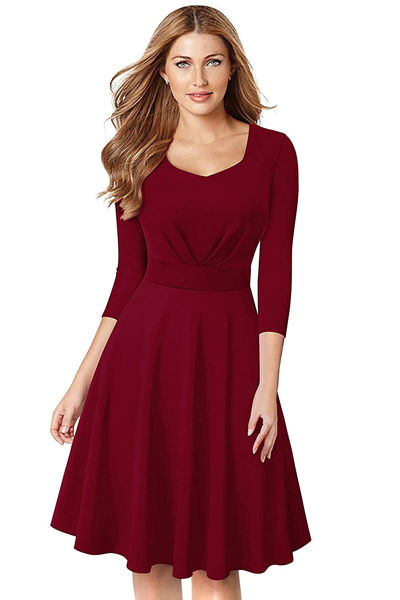 Picture of Sweetheart neck A-line Knee length Dress