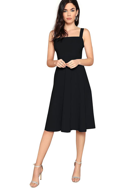 Picture of Fit and Flare knee length skater dress